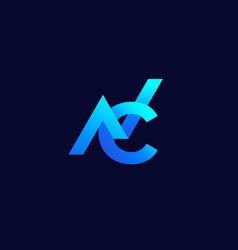 nc monogram logo on dark vector image