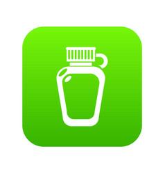 Paintball flask ammunition icon green vector