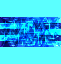 Pattern of shimmering frosty stripes in blue vector