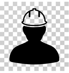 Person in hardhat icon vector