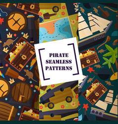 Pirate attribute seamless pattern vector