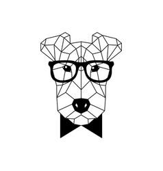 polygonal fox terrier dog vector image