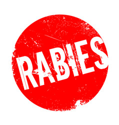 rabies rubber stamp vector image