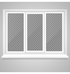 realistic closed middle open plastic window vector image