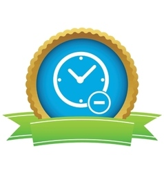 Reduce time certificate icon vector