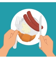 Restaurant and kitchen dishware vector