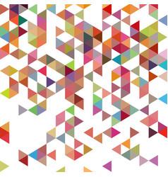 retro pattern geometric shapes colorful-mosaic vector image