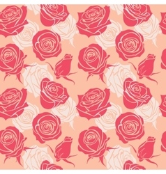 Seamless pattern with roses vintage love abstract vector