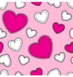 seamless pink background with hearts vector image
