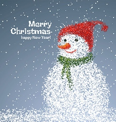 Snowman particles it can be used new year or chri vector