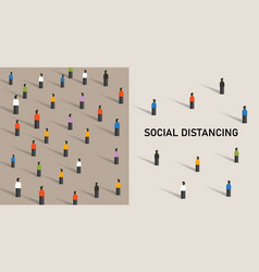 social distancing prevention corona virus covid-19 vector image