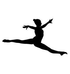 Split jump girl gymnast vector