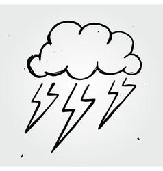 Storm cloud hand drawn vector