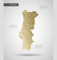Stylized portugal map vector