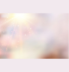 sun flash over pink bokeh background vector image