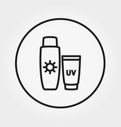 sunscreen lotion icon editable thin vector image