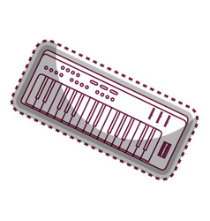 Synthesizer audio device icon vector