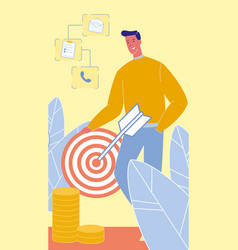 Targeted advertising flat vector