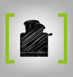 toaster simple sign black scribble icon vector image