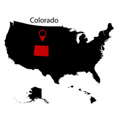 us state of colorado on the map vector image