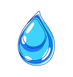 water drop ecology icon for vector image