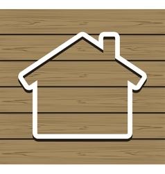 Wood House vector