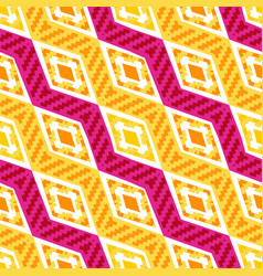 yellow and pink diagonal african geometric pattern vector image