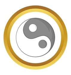 Yin Yang sign icon vector image