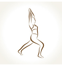 Yoga women figure vector image