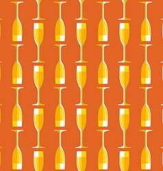Colored champagne glass seamless pattern vector