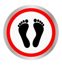 Footprint icon vector image vector image
