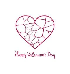 Graphic beautiful geometric heart EPS 10 vector image