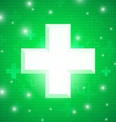 Green medical design vector image