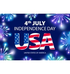 Independence day of the USA typographical vector image vector image