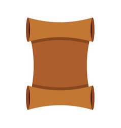 scroll icon flat style vector image