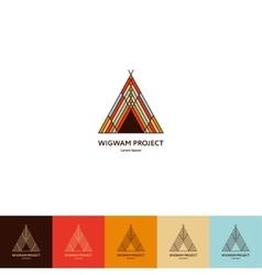 Set of wigwam logo vector image vector image