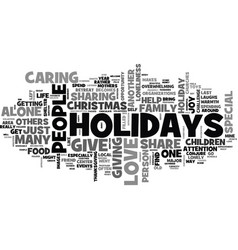 what to do when you are alone for the holidays vector image vector image