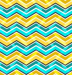 Yellow and blue zig zag seamless pattern vector