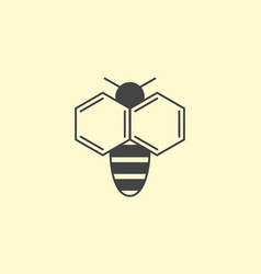 bee logo design insect honey logotype vector image