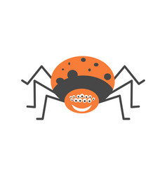 big spider with many eyes and friendly smile vector image