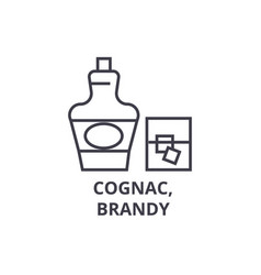 cognac brandy line icon outline sign linear vector image vector image