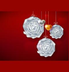 decorative paper art balls vector image