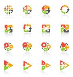 geometrical logo templates vector image