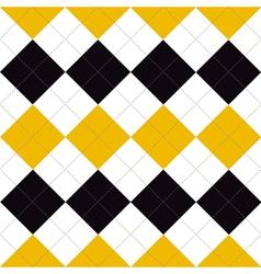 Lines Dots Yellow Black White Diamond vector image