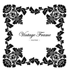 Vintage antique frame with floral ornament vector image