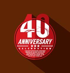 40 Years Anniversary Celebration Design vector image vector image