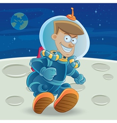 astronaut at the moon vector image vector image