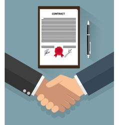 Businessman handshake on contract vector image vector image