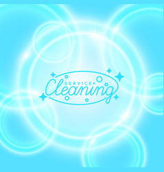conceptual poster and the logo for cleaning vector image vector image