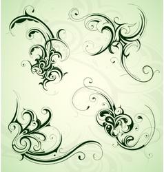Floral swirls set vector